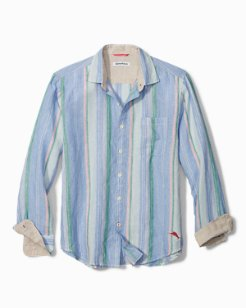 Break Line Stripe Linen Shirt