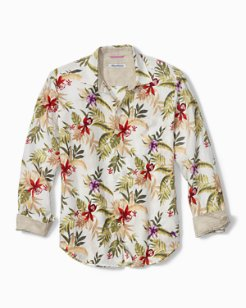 Orchid Vines Linen Shirt