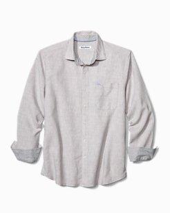 Lanai Tides Stretch-Linen Shirt