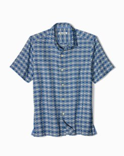 Geo Tini Plaid Camp Shirt