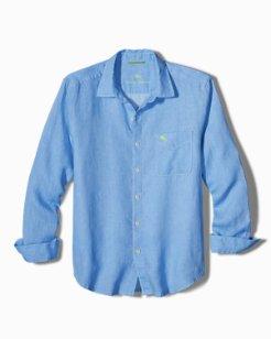 Pop Marlin Sea Glass Breezer Linen Shirt