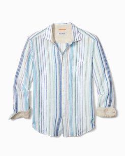 Lagoon Stripe Linen Shirt