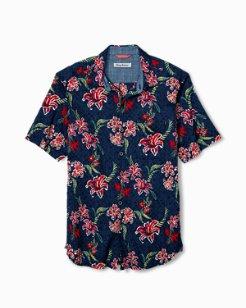 Tahitian Etch Stretch-Cotton Camp Shirt