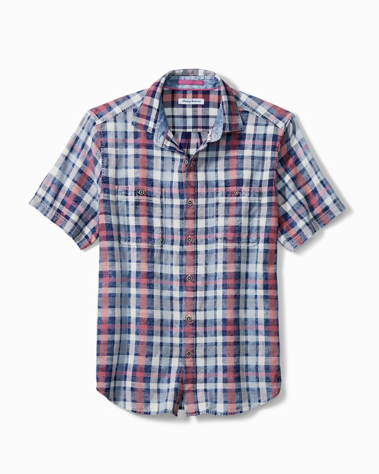 Main Image for Sand Swept Plaid Camp Shirt