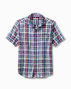 Sand Swept Plaid Camp Shirt