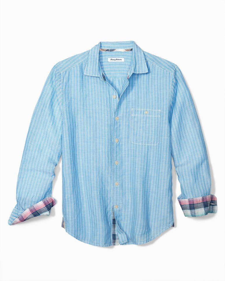 Main Image for Sand Linen Stripe Shirt