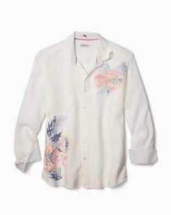 South Pacific Escape Stretch-Linen Shirt