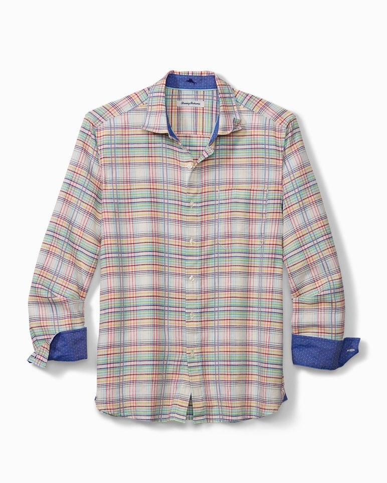 Main Image for Tonga Plaid Stretch-Linen Shirt