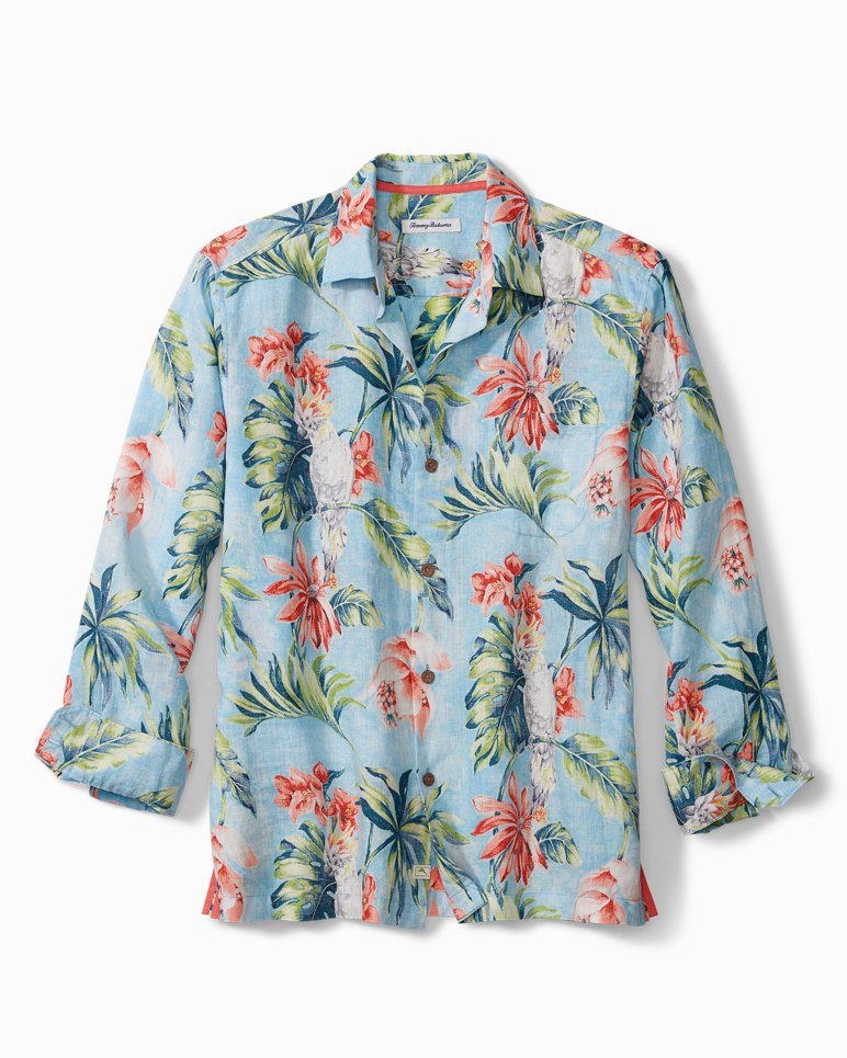 Main Image for Tahitian Tweets Linen Shirt