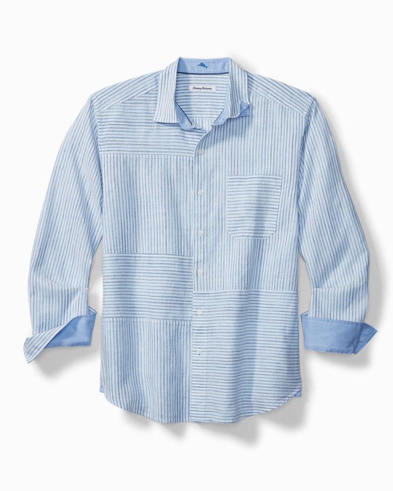 Main Image for New Stripe On The Block Stretch-Linen Shirt