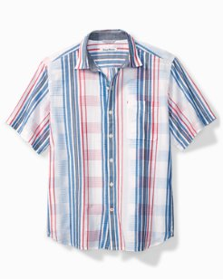 La Pelosa Stripe Camp Shirt