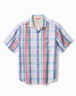 Tellaro Plaid Camp Shirt