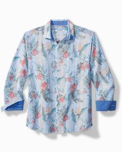 Villa Blooms Stretch-Linen Shirt