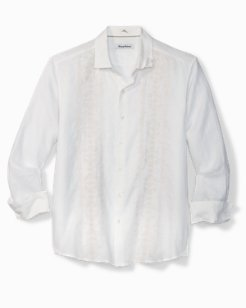 Verona Vines Embroidered Linen Shirt
