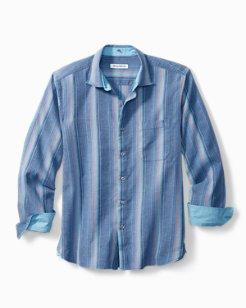 Corsica Stripe Stretch-Linen Shirt