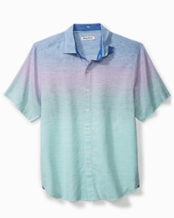 Sea To Sky Stripe Stretch-Linen Camp Shirt