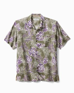 Canyon Leaves Stretch-Cotton Camp Shirt