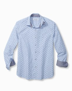 Pineapple Blues Stretch-Cotton Shirt
