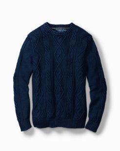 Breaker Bay Cable Crewneck Sweater