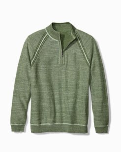 Sandy Bay Reversible Half-Zip Sweater