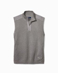 Island Fairway Half-Zip Vest