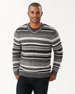 Wave Shoal V-Neck Sweater (Online Exclusive)