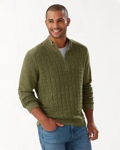 Palm Vista Half-Zip Sweater