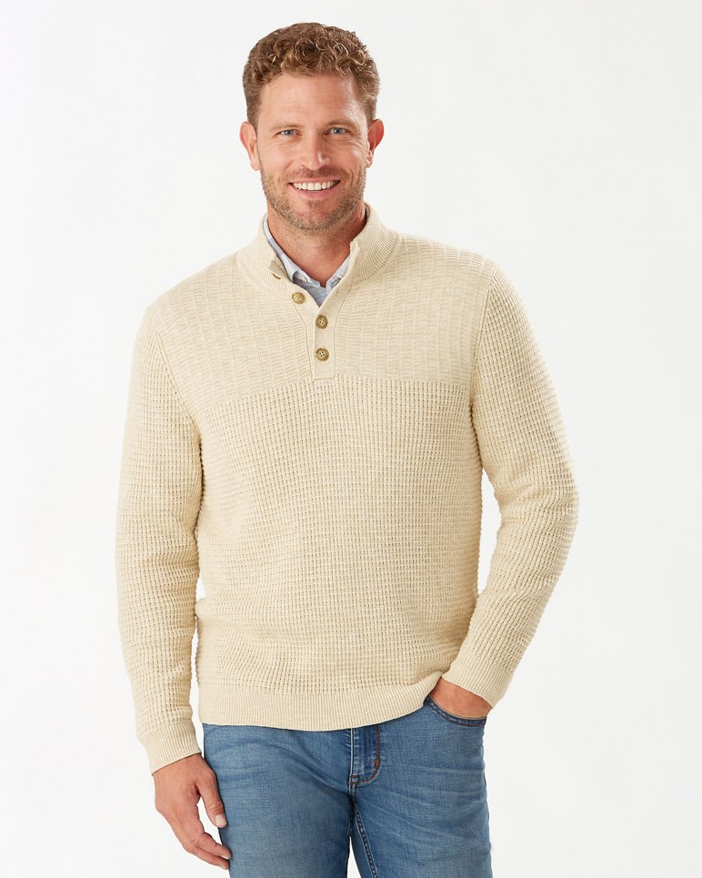 Main Image for Isidro Button Mock Sweater
