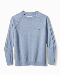 Sea Mist Pocket Crewneck Sweater
