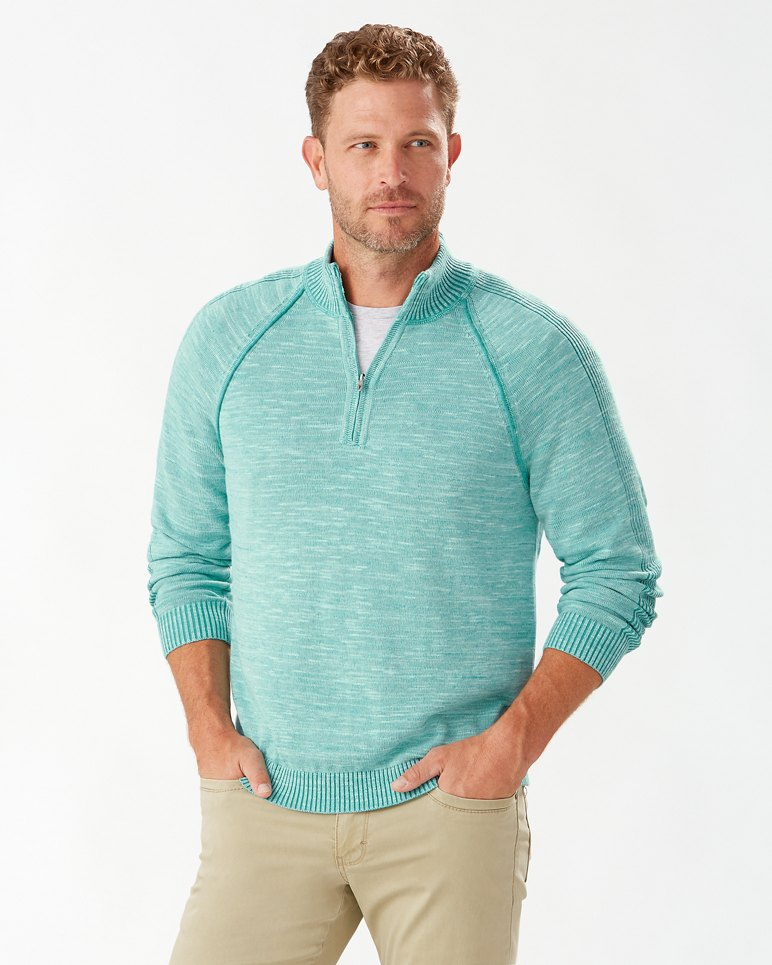 Main Image for Di Sabbia Flip Half-Zip Sweater