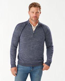 Di Sabbia Flip Half-Zip Sweater