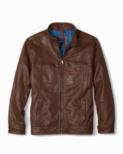 Hudson Peak Leather Aviator Jacket