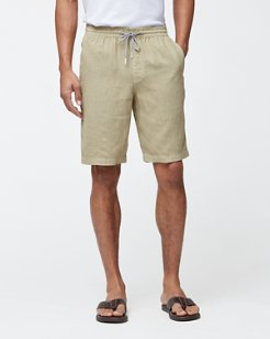 Beach Comber 10-Inch Linen Pull-On Shorts