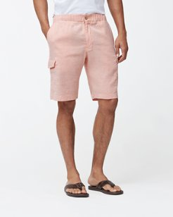 Beach Linen 10-Inch Cargo Shorts