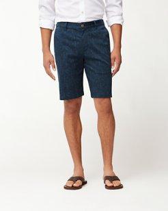 Camo Tropic Flat-Front Shorts