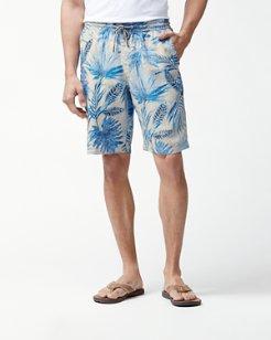 Fronds Ferdinand 10-Inch Linen Pull-On Shorts