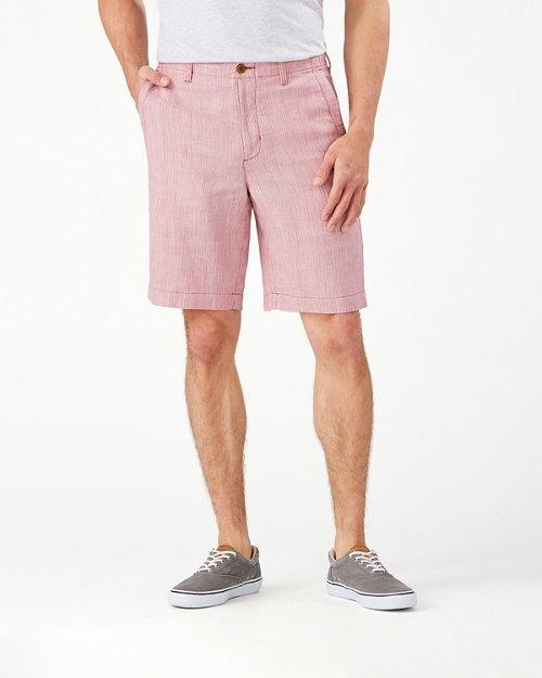 Harbor Herringbone Stretch-Linen 10-Inch Shorts