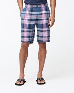 Madras Point Plaid 10-Inch Shorts