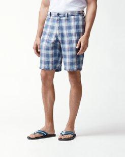 Plaid De Leon Reversible 10-Inch Linen Shorts