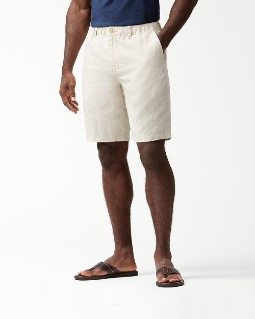 Linen The Good Life Elastic-Waist 10-Inch Shorts