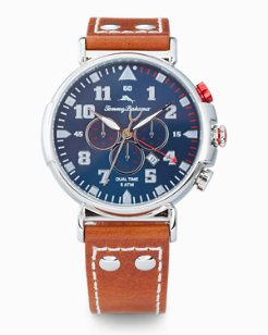 Bay View Dual-Time Chronograph Watch