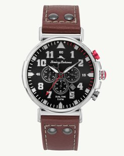 Bay View Dual Time Chronograph Watch