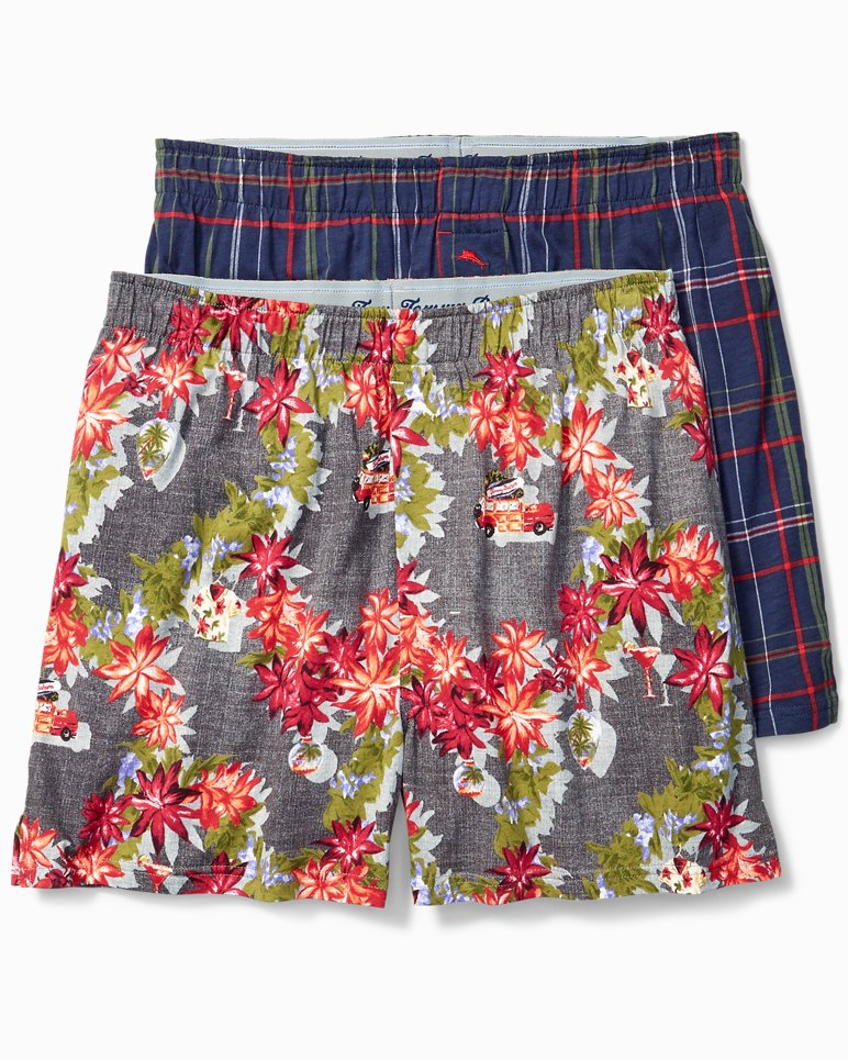 Main Image for Holiday Plaid & Christmas Tree Boxers - 2-Pack
