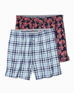 Island Plaid Knit Boxer Set