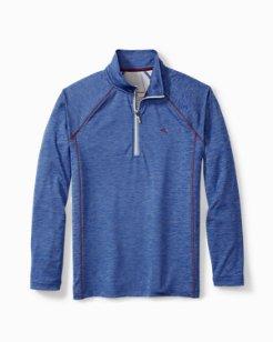 Double Knit Half-Zip Lounge Shirt