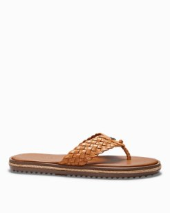 Saltholm Leather Flip Flops