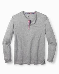 Cotton Modal Henley Lounge Shirt