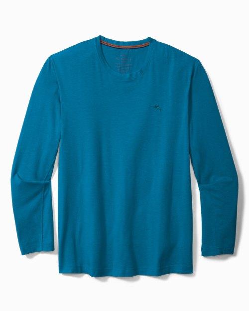 Knit Jersey Long-Sleeve Lounge Shirt