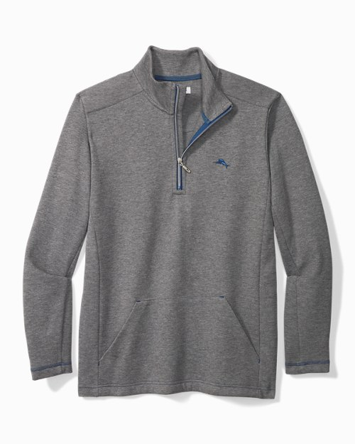 Rib Knit Lounge Quarter-Zip Shirt
