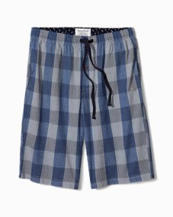 Big & Tall Bold Plaid Lounge Shorts